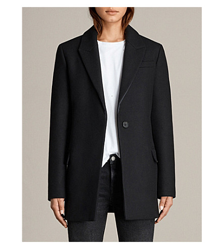 ALLSAINTS Thea wool-blend jacket (Black