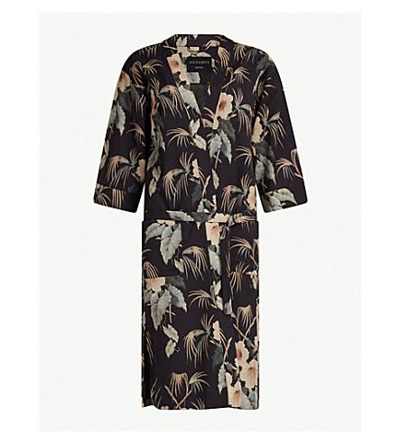 ALLSAINTS Floral-print kimono (Ink