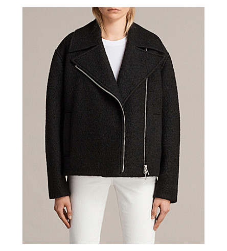 ALLSAINTS Remi bouclé wool-blend jacket (Black