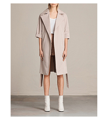 ALLSAINTS Luna cotton-twill trench coat (Dusty+pink