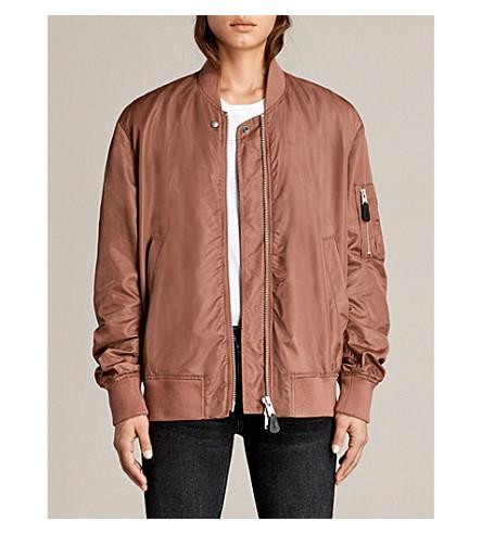 ALLSAINTS Myra shell bomber jacket (Rust