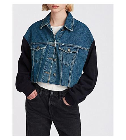 ALLSAINTS Anders denim and cotton-jersey jacket (Indigo+blue
