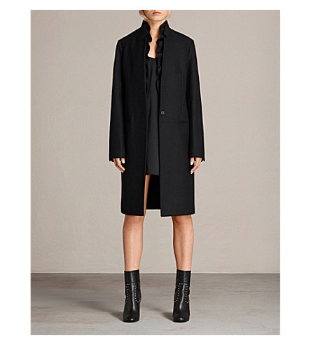 ALLSAINTS Mae wool-blend coat (Black