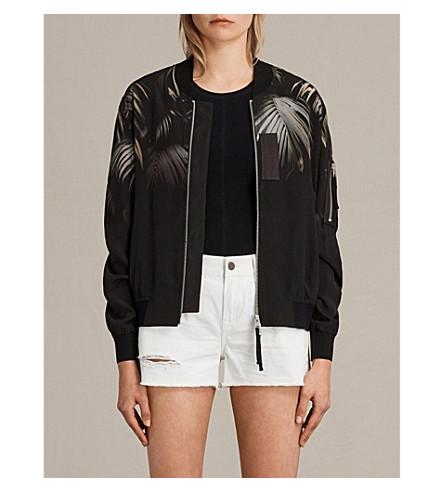 ALLSAINTS Harlow silk bomber jacket (Black