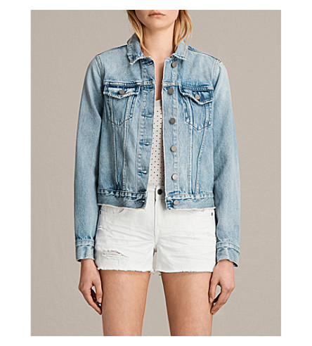 ALLSAINTS Hay denim jacket (Mid+indigo+blu