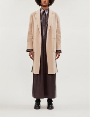 Albie dropped-shoulders wool-blend coat