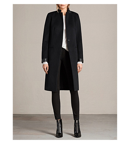 ALLSAINTS Odile wool-blend coat (Black