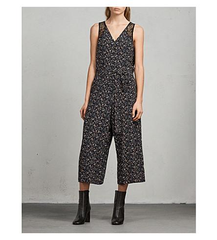 ALLSAINTS Cate Pepper floral-print crepe jumpsuit (Black