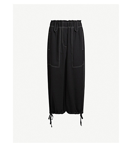 ALLSAINTS Mercer crepe trousers (Black