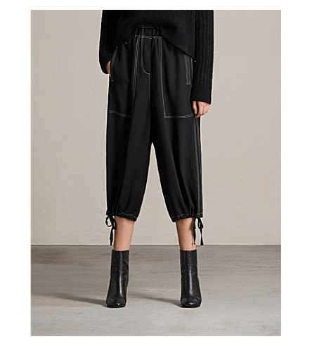 ALLSAINTS Mercer crepe trousers (Black