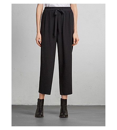 ALLSAINTS Tailia drawstring crepe trousers Black Outlet Visit New Clearance Pictures 2018 Online Wholesale Quality jpKtjV