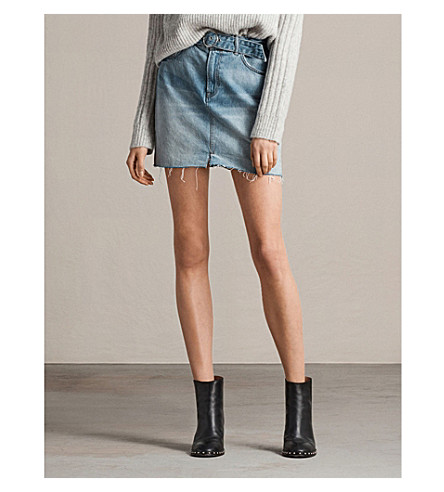 ALLSAINTS Bette denim indigo falda b mini Light rUrFqnwRd