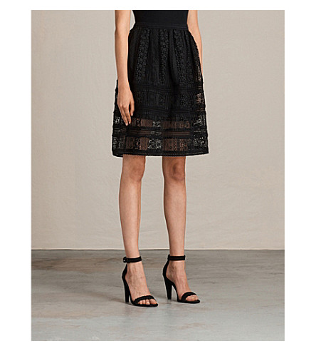 ALLSAINTS Rowan lace skirt (Black