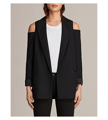 ALLSAINTS Nora woven blazer (Black