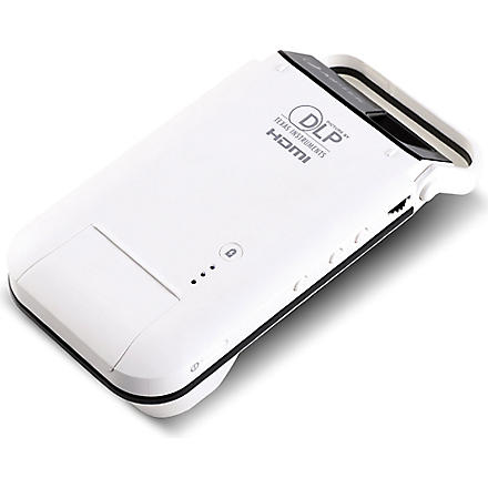 Aiptek dlp pico pocket projector for iphone 5 5s for Iphone pocket projector best buy