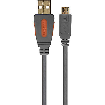 PEERLESS Alpha USB 2.0 High Speed device cable - A plug to micro B plug