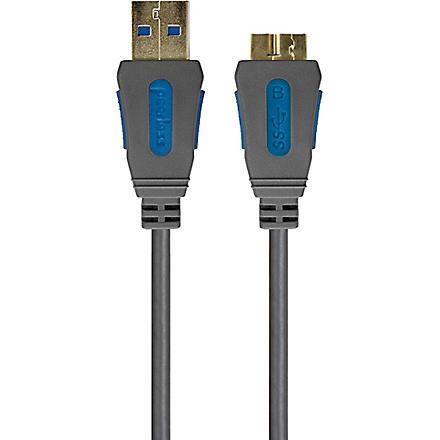 PEERLESS Alpha USB 3.0 SuperSpeed device cable - A plug to micro B plug