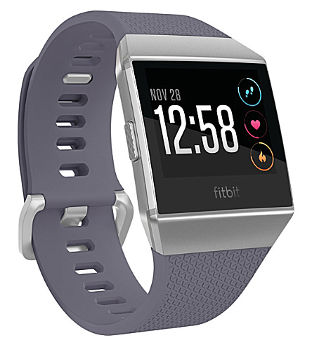 FITBIT Ionic Fitness Smartwatch (Blue+silver+grey