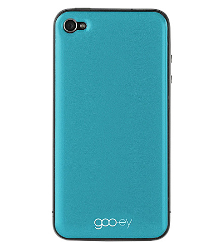GOOEY iPhone 4/4s skin aqua