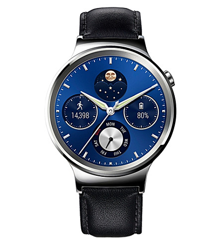 HUAWEI Classic leather-strap smart watch
