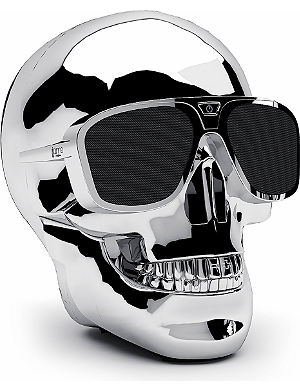 JARRE AeroSkull XS portable Bluetooth speaker dock Chrome