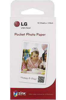 LG Pocket Photo inkless paper for Pocket printer