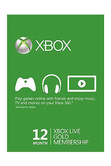 MICROSOFT Xbox Live Gold 12-month Membership