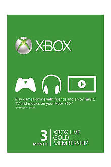 MICROSOFT Xbox Live Gold three-month Membership 3 months