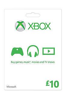 MICROSOFT Xbox Live £10 gift card