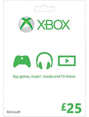 MICROSOFT Xbox Live £25 gift card