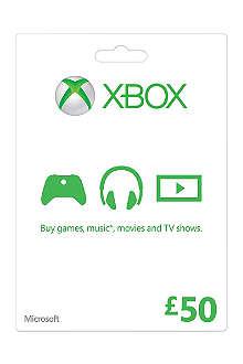 MICROSOFT Xbox Live £50 gift card