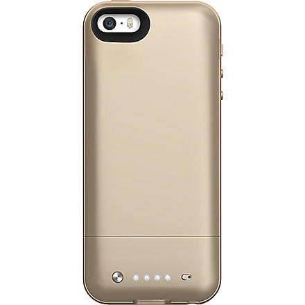 MOPHIE Space Pack battery case 16GB for iPhone 5/5s gold