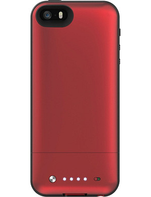 MOPHIE Space Pack battery case 32GB for iPhone 5/5s red