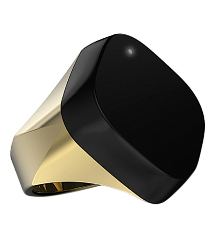 NEYYA Medium gold-finish smart ring
