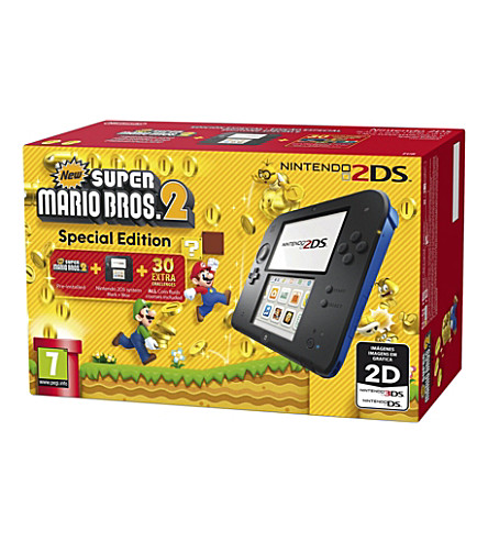 NINTENDO 2DS and super mario bros 2 console