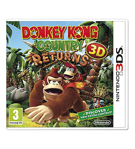NINTENDO Donkey Kong Country Returns 3DS game