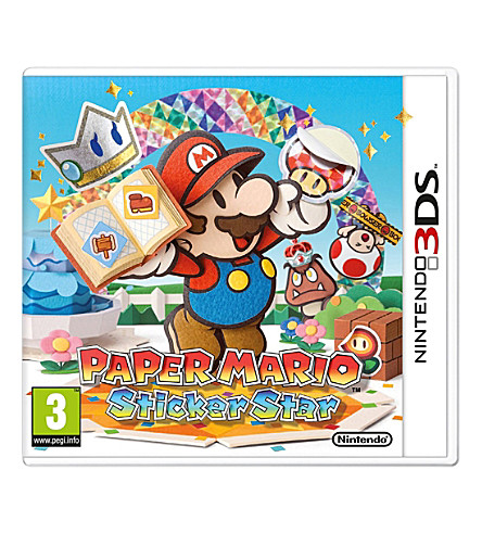 NINTENDO Paper Mario Sticker Star 3DS Game