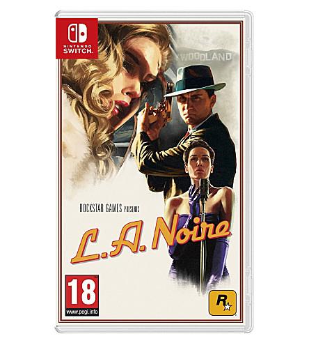 NINTENDO L.A. Noire Switch game