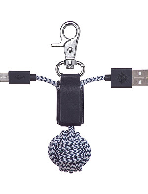 NATIVE UNION Power Link micro USB leather knot