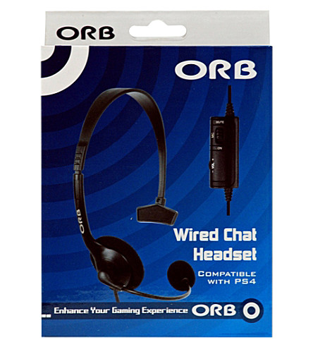ORB Wired Chat headset for PS4