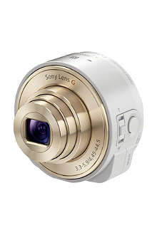 SONY DSC-QX10 Carl Zeiss wireless lens for smartphone white