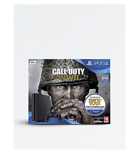 SONY Call of Duty: WWII PS4 500GB console bundle