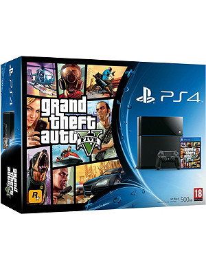SONY PlayStation 4 console and GTA V bundle