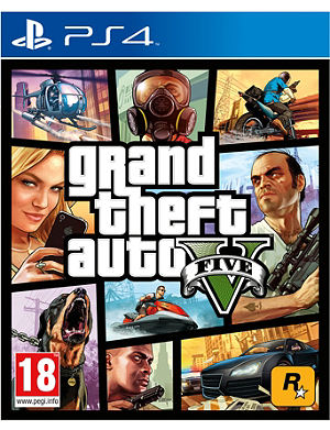 SONY Grand Theft Auto V PS4 game