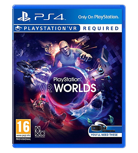 SONY Vr worlds ps4 virtual reality game
