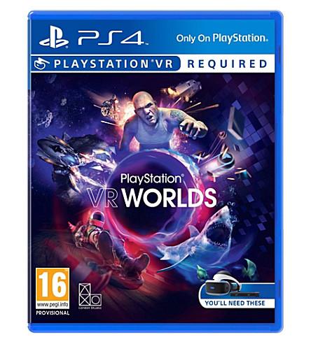 SONY 虚拟现实世界 ps4 虚拟现实游戏