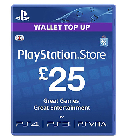 SONY PlayStation Live £25 gift card