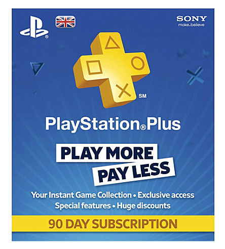 SONY Playstation Plus 90 days subscription