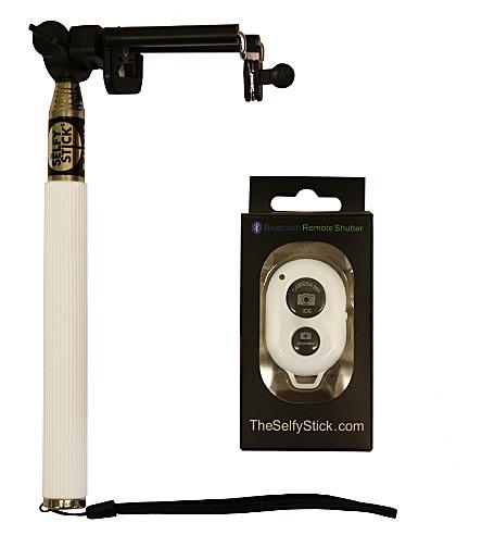 selfie stick the selfy stick and bluetooth remote shutter. Black Bedroom Furniture Sets. Home Design Ideas