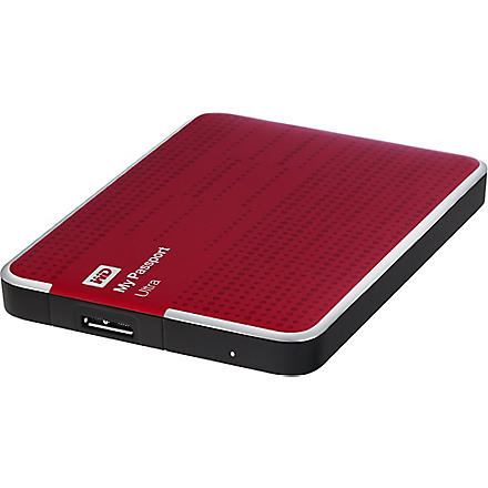 WESTERN DIGITAL My Passport Ultra 1TB hard drive Red